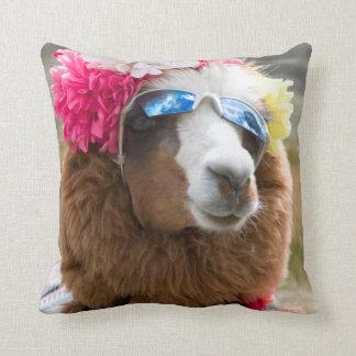 Alpaca, Pachacoto, Cordillera Blanca, Ancash Throw Pillow