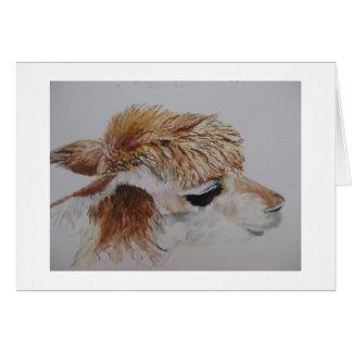 Alpaca painting card