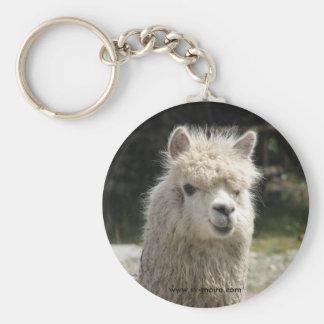 Alpaca, Parque Llaviucu, Ecuador Basic Round Button Key Ring