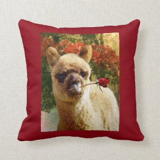Alpaca Rose Pillow