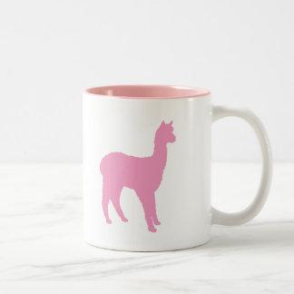 Alpaca Silhouette (in pink) Coffee Mug