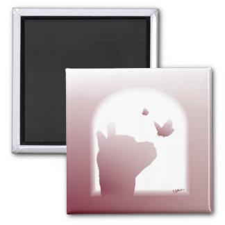 Alpaca Silhouette Magnet