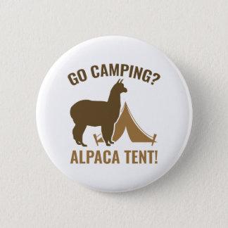 Alpaca Tent 6 Cm Round Badge