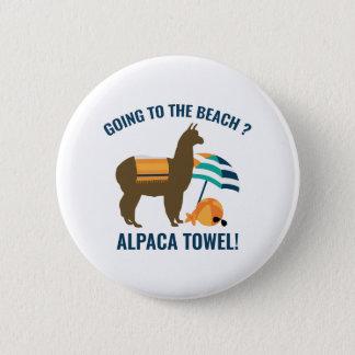 Alpaca Towel 6 Cm Round Badge