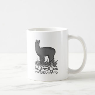 Alpaca watches over us coffee mug