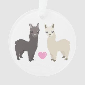 Alpacas and Heart Ornament