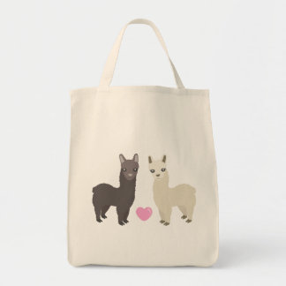 Alpacas and Heart Tote Bag