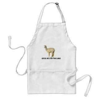Alpacas are cuter than llamas standard apron