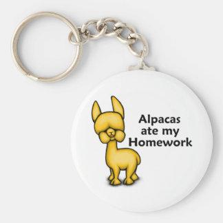 Alpacas ate my Homework Key Ring