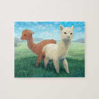 Alpacas on the Meadow Jigsaw Puzzle