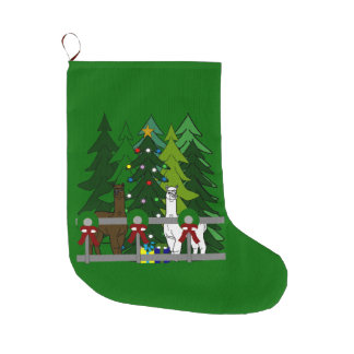Alpacas Rock Christmas Holiday Season Stocking