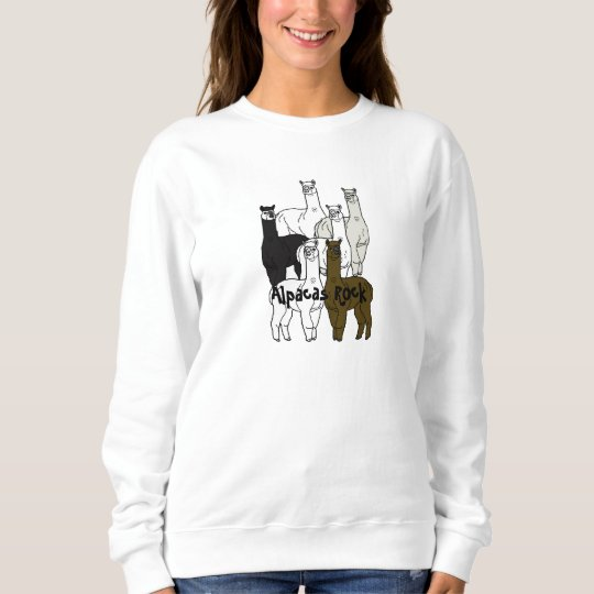 Alpacas Rock Farm Days Event Female Sweatshirt