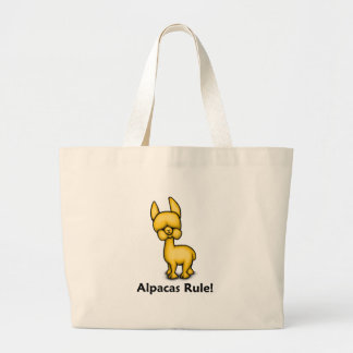 Alpacas Rule! Large Tote Bag