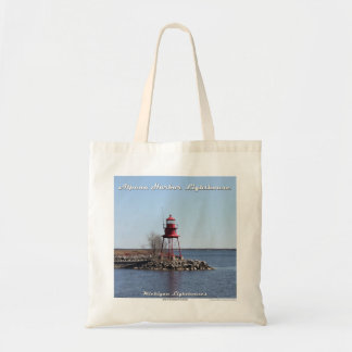 Alpena Harbor Lighthouse - Budget Tote Budget Tote Bag