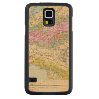 Alpenlander - Atlas Map of the Alps Carved Maple Galaxy S5 Case