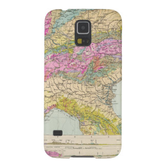 Alpenlander - Atlas Map of the Alps Cases For Galaxy S5