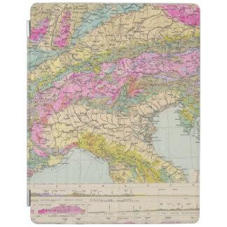 Alpenlander - Atlas Map of the Alps iPad Cover