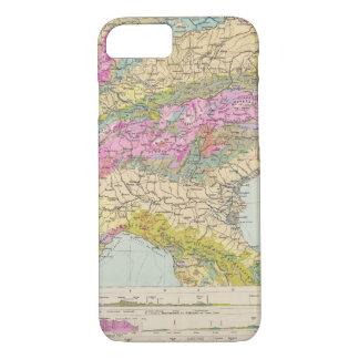 Alpenlander - Atlas Map of the Alps iPhone 8/7 Case