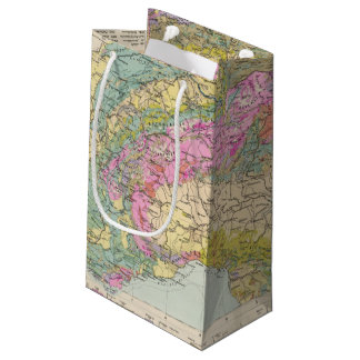 Alpenlander - Atlas Map of the Alps Small Gift Bag
