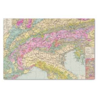 Alpenlander - Atlas Map of the Alps Tissue Paper