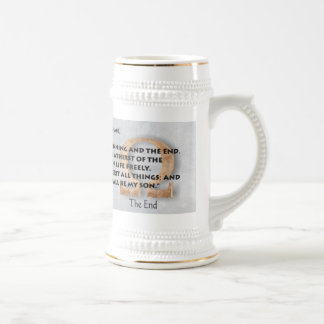 Alpha and Omega Beer Stein
