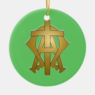Alpha and Omega Christmas Ornament