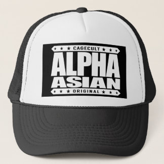 ALPHA ASIAN - On Top of Genetic Food Chain, White Trucker Hat
