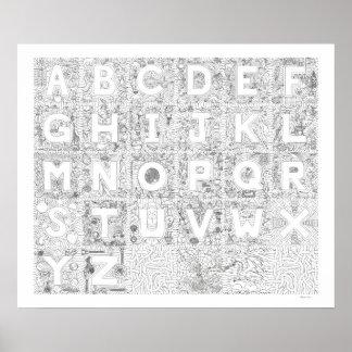 Alpha-BeConnectibles Alphabet Art Grouping Poster