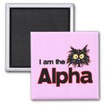 Alpha Cat Refrigerator Magnets