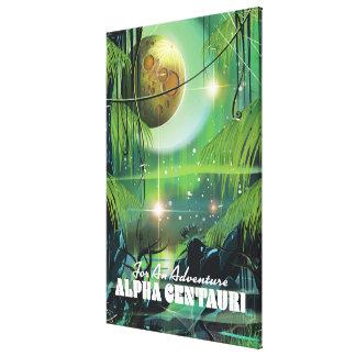 Alpha Centauri retro swamp sci-fi poster Canvas Prints