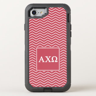 Alpha Chi Omega | Chevron Pattern OtterBox Defender iPhone 7 Case