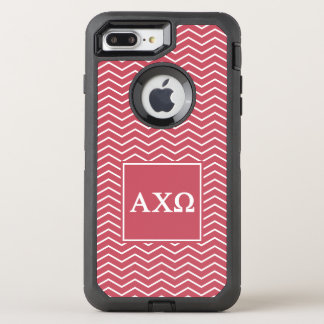 Alpha Chi Omega | Chevron Pattern OtterBox Defender iPhone 7 Plus Case