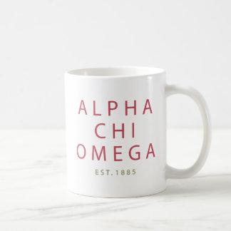 Alpha Chi Omega   Est. 1885 Coffee Mug