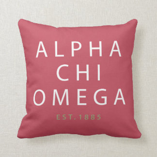 Alpha Chi Omega | Est. 1885 Cushion