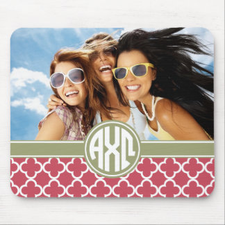 Alpha Chi Omega | Monogram and Photo Mouse Mat