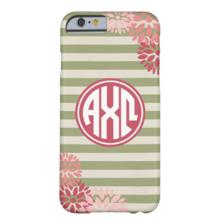 Alpha Chi Omega | Monogram Stripe Pattern Barely There iPhone 6 Case