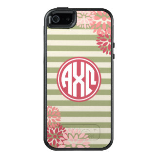 Alpha Chi Omega | Monogram Stripe Pattern OtterBox iPhone 5/5s/SE Case
