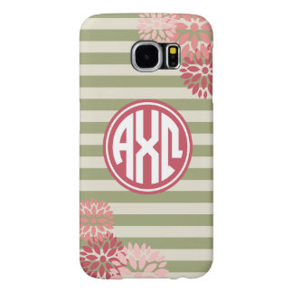 Alpha Chi Omega | Monogram Stripe Pattern Samsung Galaxy S6 Cases