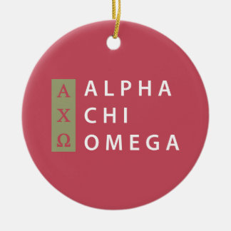 Alpha Chi Omega | Stacked Logo Christmas Ornament