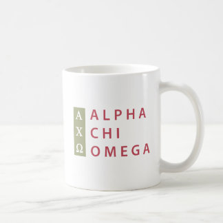 Alpha Chi Omega | Stacked Logo Coffee Mug