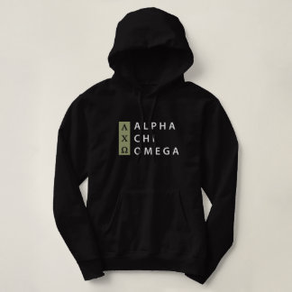 Alpha Chi Omega   Stacked Logo Hoodie