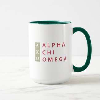 Alpha Chi Omega   Stacked Logo Mug
