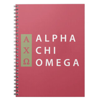 Alpha Chi Omega | Stacked Logo Notebook