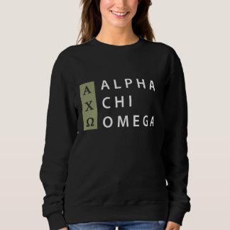 Alpha Chi Omega   Stacked Logo Sweatshirt