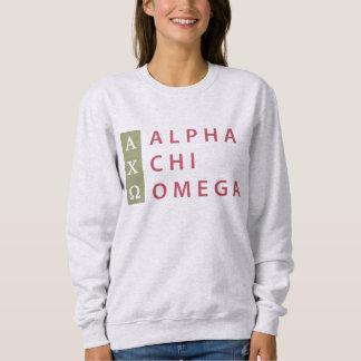Alpha Chi Omega | Stacked Logo Sweatshirt
