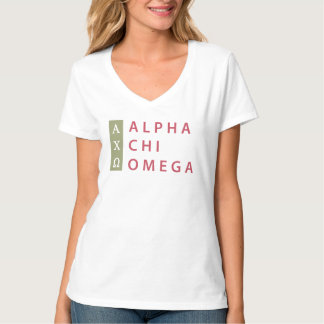 Alpha Chi Omega | Stacked Logo T-Shirt