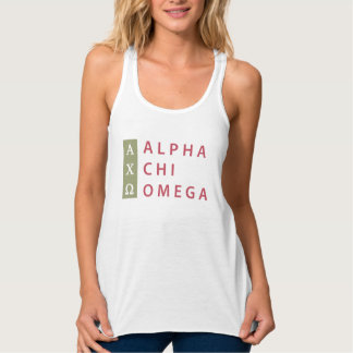 Alpha Chi Omega | Stacked Logo Tank Top