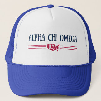 Alpha Chi Omega - USA Trucker Hat