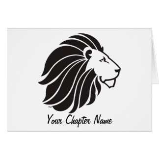 Alpha Delta Pi Black Lion Card