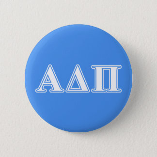 Alpha Delta Pi Dark Blue and White Letters 6 Cm Round Badge